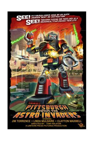 Pittsburgh, Pennsylvania Vs. the Astro Invaders by Lantern Press