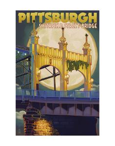 Pittsburgh - Smithfield Street Bridge by Lantern Press