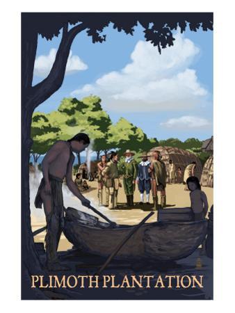 Plimoth Plantation, Massachusetts - Wampanoag Village by Lantern Press
