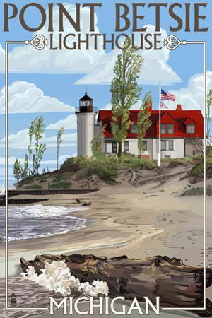 Point Betsie Lighthouse, Michigan by Lantern Press