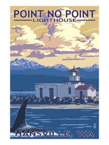 Point No Point Lighthouse - Hansville, WA by Lantern Press