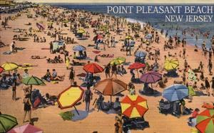 Point Pleasant, New Jersey - South View of Beach by Lantern Press