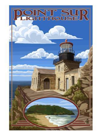 Point Sur Lighthouse - Big Sur Coast, California by Lantern Press