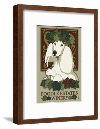 Poodle - Retro Winery Ad