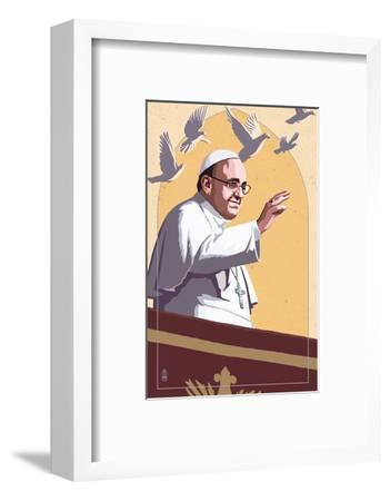 Pope and Doves - Lithography Style
