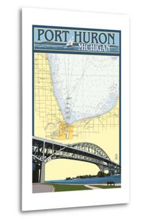 Port Huron, Michigan - Nautical Chart