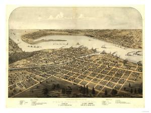 Port Huron, Michigan - Panoramic Map by Lantern Press