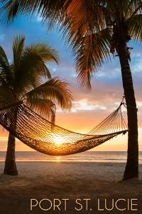 Port St. Lucie, Florida - Hammock and Sunset by Lantern Press