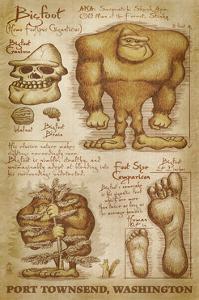 Port Townsend, Washington - Bigfoot da Vinci by Lantern Press