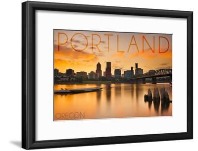 Portland, Oregon - City View at Sunset