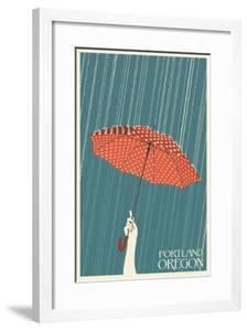 Portland, Oregon - Umbrella by Lantern Press