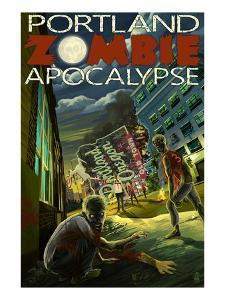 Portland, Oregon - Zombie Apocalypse by Lantern Press