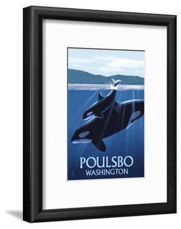 Poulsbo, Washington - Orca and Calf
