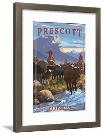 Prescott, Arizona - Cowboy Cattle Drive Scene