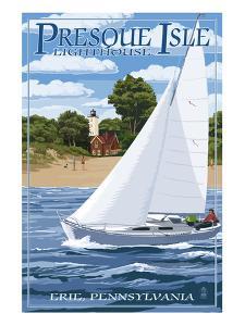 Presque Isle Lighthouse - Erie, Pennsylvania by Lantern Press