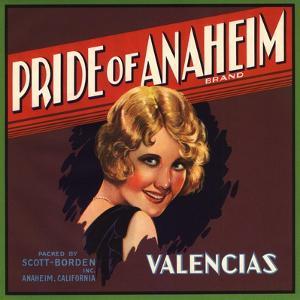 Pride of Anaheim Brand - Anaheim, California - Citrus Crate Label by Lantern Press