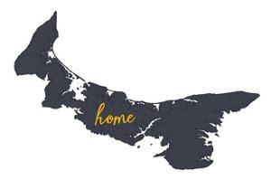 Prince Edward Island - Home - Gray on White by Lantern Press
