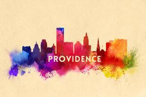 Providence, Rhode Island - Skyline Abstract by Lantern Press