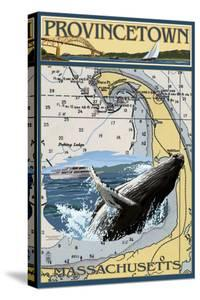 Provincetown, Massachusetts - Nautical Chart by Lantern Press