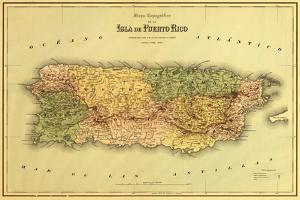 Puerto Rico - Panoramic Map by Lantern Press