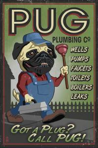 Pug - Retro Plumbing Ad by Lantern Press