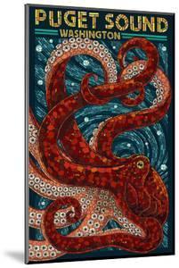 Puget Sound, Washington - Octopus Mosaic by Lantern Press