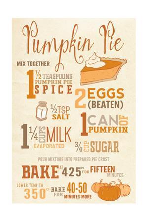 Pumpkin Pie Recipe by Lantern Press