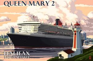 Queen Mary 2 - Halifax, Nova Scotia by Lantern Press