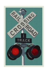 Railroad Crossing by Lantern Press