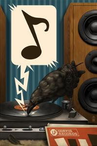 Raven and Record Player by Lantern Press