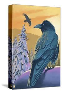 Ravens and Sunset by Lantern Press