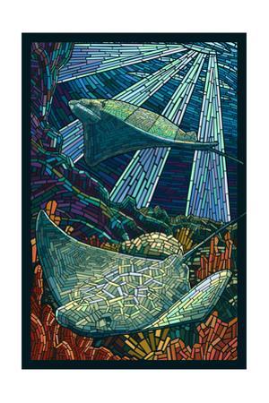 Rays - Paper Mosaic by Lantern Press