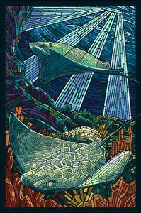 Rays - Paper Mosaic by Lantern Press