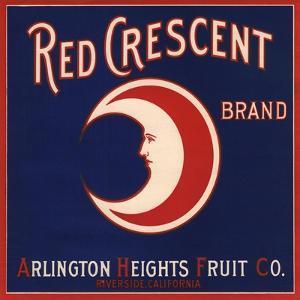 Red Crescent Brand - Riverside, California - Citrus Crate Label by Lantern Press