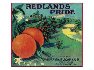 Redlands Pride Orange Label - Redlands, CA by Lantern Press