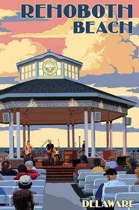 Rehoboth Beach, Delaware - Bandstand by Lantern Press