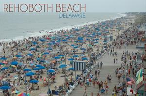 Rehoboth Beach, Delaware - Beach and Boardwalk by Lantern Press