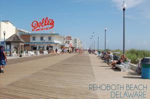 Rehoboth Beach, Delaware - Boardwalk by Lantern Press