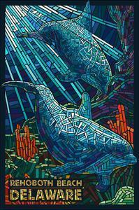 Rehoboth Beach, Delaware - Dolphin Mosaic by Lantern Press