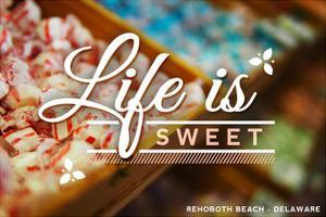Rehoboth Beach, Delaware - Life is Sweet - Rows of Candy by Lantern Press
