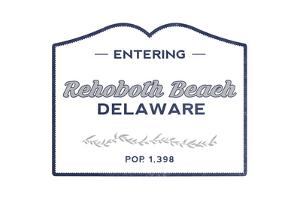 Rehoboth Beach, Delaware - Now Entering (Blue) by Lantern Press