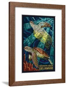 Rehoboth Beach, Delaware - Sea Turtle Mosaic by Lantern Press