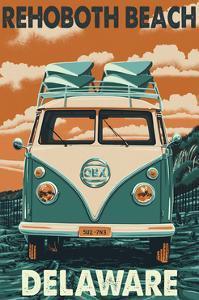 Rehoboth Beach, Delaware - VW Van by Lantern Press