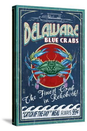 Rehoboth, Delaware - Blue Crabs Vintage Sign