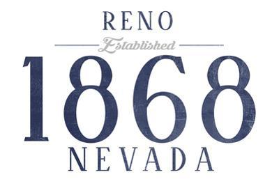 Reno, Nevada - Established Date (Blue)