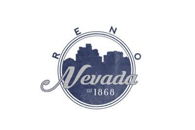 Reno, Nevada - Skyline Seal (Blue)