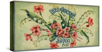 Reveil De Printemps Soap Label - Paris, France