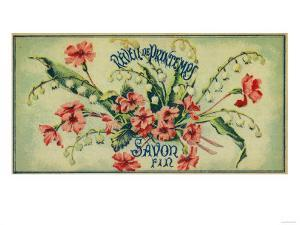 Reveil De Printemps Soap Label - Paris, France by Lantern Press