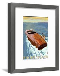 Rhode Island, Chris Craft Boat by Lantern Press