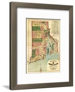 Rhode Island - Panoramic Map by Lantern Press